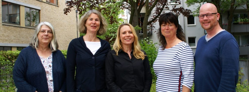 Das Team der Erziehungsberatung: B. Gierga-Dommel, B. Petersdorf, C. Kolander, N. Hoff-Schmüser, J.H. Hein