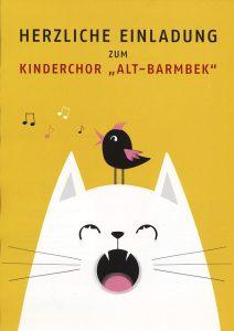 """Plakat: Herzliche Einladung zum Kinderchor """"Alt-Barmbek"""""""