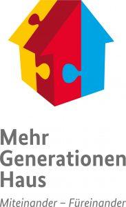 """Logo des Mehrgenerationenhausprogramms """"Miteinander-Füreinander"""""""